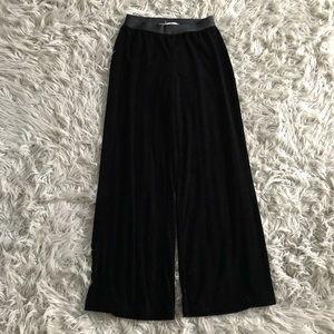 Max Studio Black Velour Pants